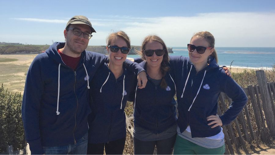 The CloudPeeps team on our second retreat in Santa Cruz